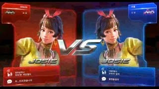 getlinkyoutube.com-Tekken7 josie(NOBASIN) vs josie(무릎 knee) 鉄拳7 철권7 korea online battle