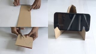 DIY Crafts - Making of Mobile Stand in 5 Minutes Using Waste Material - Tutorial