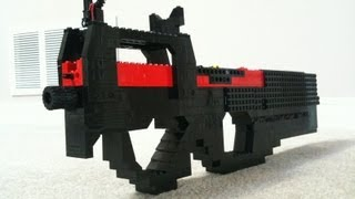 getlinkyoutube.com-Lego P90 (WORKING)