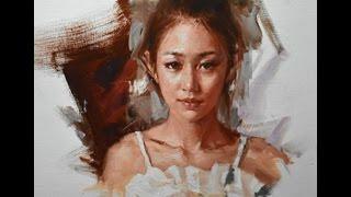 getlinkyoutube.com-Oil Painting Portrait Tutorial by Zhu Kai Master Artist