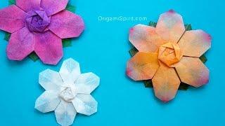 getlinkyoutube.com-Christmas Flower -Snowflake :: Flor de seis pétalos para Navidad