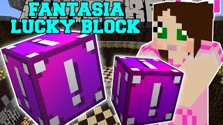 getlinkyoutube.com-Minecraft: FANTASIA LUCKY BLOCK (MONEY, POOP WEAPONS, & JEN'S MOM!) Mod Showcase