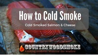 How to cold smoke - cold smoking salmon and cheese