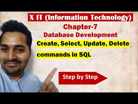 Class X | IT | # 7 | CREATE, SELECT, DELETE , UPDATE commands of SQL