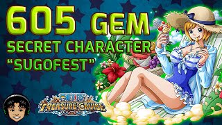 "getlinkyoutube.com-605 Gem Secret Character Waifu ""Sugofest"" [One Piece Treasure Cruise]"