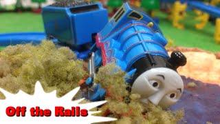 "getlinkyoutube.com-Tomy Plarail Thomas ""Off the Rails"" ""Gordon Takes a Dip"" トーマス プラレール ガチャガチャ ゴードンみぞにはまる"