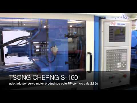 Máquina injetora de plástico TSONG CHERNG modelo S-160 na INTERPLAST 2010
