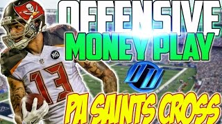 getlinkyoutube.com-Free Madden 17 Tips: Insane Offensive Money Play   PA Saints Cross   Score on any Cover 3 or Cover 4
