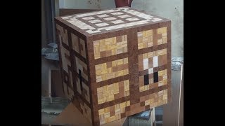 getlinkyoutube.com-Minecraft Crafting Table - Assembling Mistake. Toys Chest