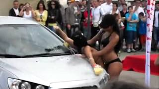 getlinkyoutube.com-Dirty Sexy Girls Washing a car