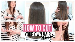 getlinkyoutube.com-HOW TO CUT YOUR OWN HAIR STRAIGHT