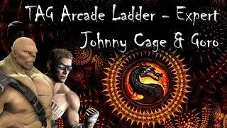 getlinkyoutube.com-MK9 (PC) - Johnny Cage & Goro (Tag Arcade Ladder Expert)