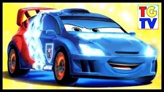 getlinkyoutube.com-Cars: Fast as Lightning NEON RACING! Neon Raoul vs McQueen, DJ, Wingo