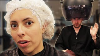 getlinkyoutube.com-People Dye Their Hair Gray For The First Time
