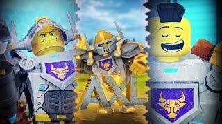 getlinkyoutube.com-Lego NEXO Knights | AXL | HUNGRY FOR ACTION | 3D Lego