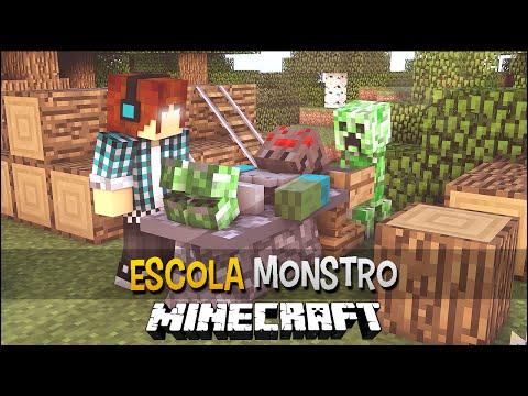 Minecraft Escola Monstro #03 - Criando Monstros Bizarros!!  Monster School