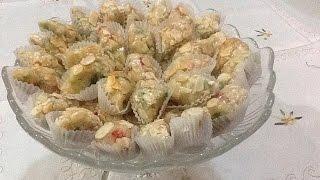 حلوة الفندة باللوز و الفواكه الجافة رائعة المذاق و الشكل من المطبخ المغربي مع ربيعة