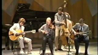 getlinkyoutube.com-Fascinating Rhythm - Stephane Grappelli, Martin Taylor, Louis Stewart, Jack Sewing. Belfast 1986