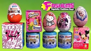 getlinkyoutube.com-Disney FROZEN FASHEMS Surprise Capsule BFFs MyLittlePony SHOPKINS Play-Doh Peppa Barbie Surprise