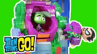"TEEN TITANS GO! Parody ""Beast Boy Imitates Cyborg"" with The Joker Suit at T-Tower"