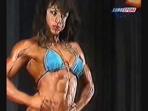 Susana Alonso en el campeonato de Europa de culturismo Ifbb 1997