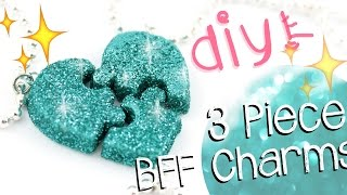 getlinkyoutube.com-DIY PUZZLE Friendship Charms! - 3 Pieces! -