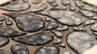 getlinkyoutube.com-Esmaltes al agua - Efectos con Pinturas - Pintar espejos - Lidia Gonzalez Varela