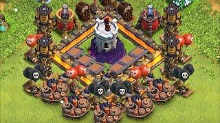 STRONGER THAN 7 PEKKAS!!🔸Wiz tower lvl 10 Against a Pekka Army!!