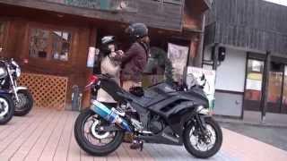 getlinkyoutube.com-可愛い少女とタンデム NASSERT Evolution TypeIIサウンドを聞け 2013  Ninja250 ZX-RR Kawasaki Ninja BEET JAPAN カワサキワークス