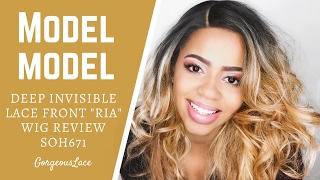 Model Model Deep Invisible Part Lace Front Wig RIA SOH671 Review | GorgeousLace