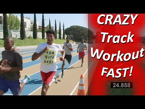 Crazy Track Workout! 350M, 250M, 150M X 2 Run FASTER!