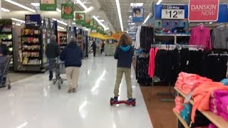 11 YEAR OLD RIDES HOVERBOARD PAST 15+ WALMART EMPLOYEES