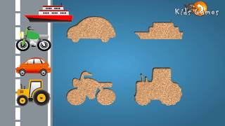 getlinkyoutube.com-Toddler Car Puzzle for kids : Cartoon & Game about Cars - Street Vehicles