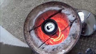 getlinkyoutube.com-Homemade electric forge (melting aluminum)
