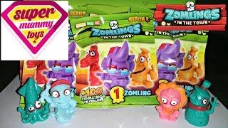 getlinkyoutube.com-Mega Zomlings Series 3 Blind Bags Toy Unboxing