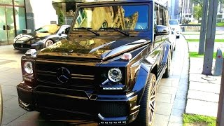 getlinkyoutube.com-LOUD Mercedes G63 AMG Brabus, BRUTAL sound