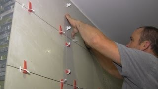 getlinkyoutube.com-How to install large format tiles on bathroom walls using Perfect Level Master