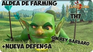 getlinkyoutube.com-Aldea de Farming TH7 | Controlador aereo | Sin rey Barbaro