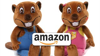 "getlinkyoutube.com-""Busy Beavers From Amazon"" | Buy Billy & Betty Beaver Plush Toys XMas, Kids Stuffed Toys"