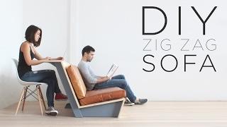 "getlinkyoutube.com-DIY ""Zig Zag"" Sofa | How to make a modern couch"
