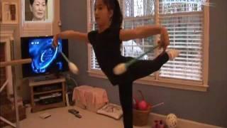 getlinkyoutube.com-10-yr-old Elena Documentary TV 2/2 新体操小学生