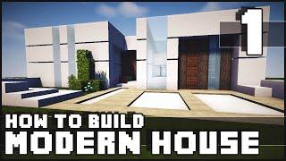 getlinkyoutube.com-Minecraft House - How to Build : Modern House - Part 1