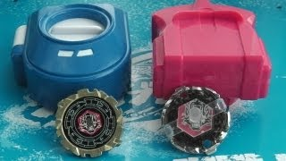 getlinkyoutube.com-MINI Beyblade Battle! Mini Dark Wolf vs Mini EX Dark Wolf