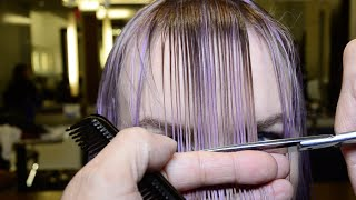 getlinkyoutube.com-Hair Makeover Bangin'Lavender by AJ Lordet & Jerome Lordet NYC