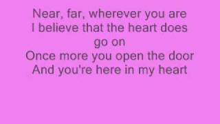 getlinkyoutube.com-Celine Dion - My Heart Will Go On - with lyrics ;)