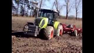 getlinkyoutube.com-Wiosenna wtopa 2014 - CLAAS AXION 850 i JOHN DEERE 7530