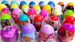 getlinkyoutube.com-Learn Colors with Many Surprise Eggs Trolls Barbie Super Mario Peppa Pig Spiderman
