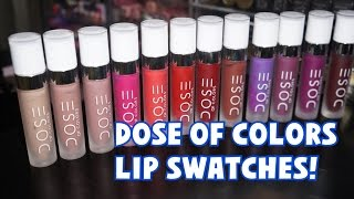 getlinkyoutube.com-Dose of Colors Matte Lipstick Lip Swatches | Katie Danger