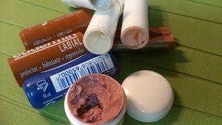 getlinkyoutube.com-DIY: Como hacer un labial .( reciclar )