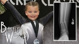 getlinkyoutube.com-Blakely's First Gymnastics Meet after Broken Leg | Blakely